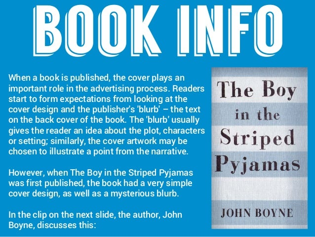 the boy in the striped pajamas compare and contrast essay The boy in the striped pyjamas is a book written by john boyne depicting the horror of the holocaust the author uses the descriptive language and persona.
