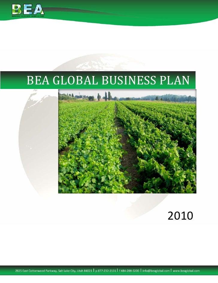 BEA Business Plan