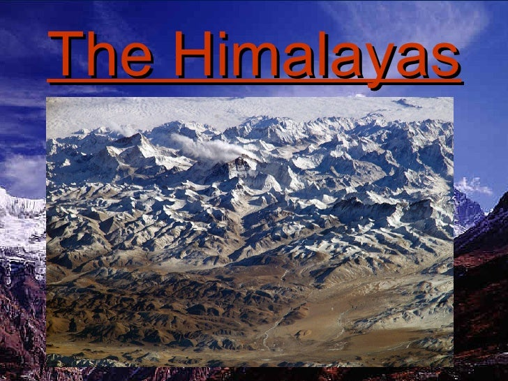 The Himalayas,  Mountains And Rivers Project - Carver