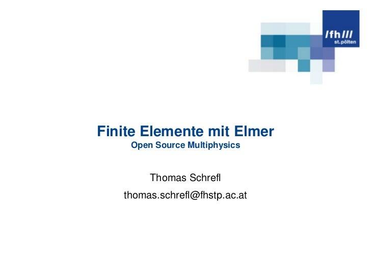 Finite Elemente mit Elmer