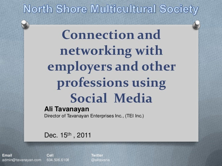 Connection and                        networking with                       employers and other                        pro...