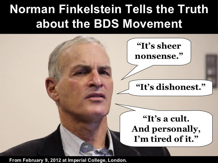 Norman Finkelstein Tells the Truth about the BDS Movement