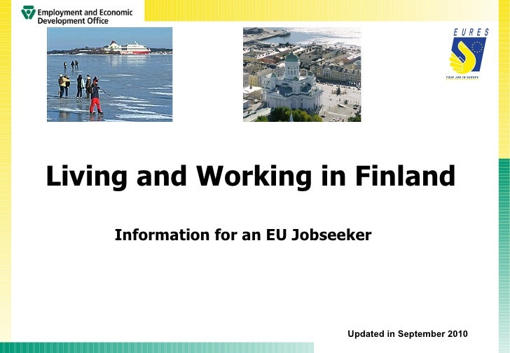 Living and Working in Finland, presented by EURES