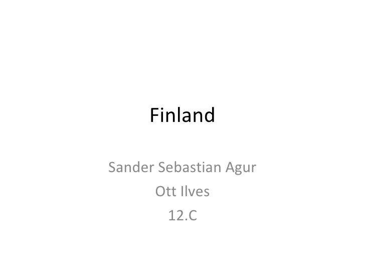 Finland Sander Sebastian Agur Ott Ilves 12.C