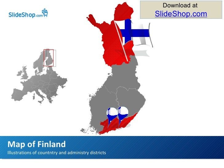 Illustrations of countntry and administry districts Map of Finland