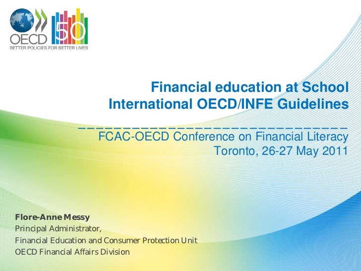 Financial Literacy at Schools. International Guidelines