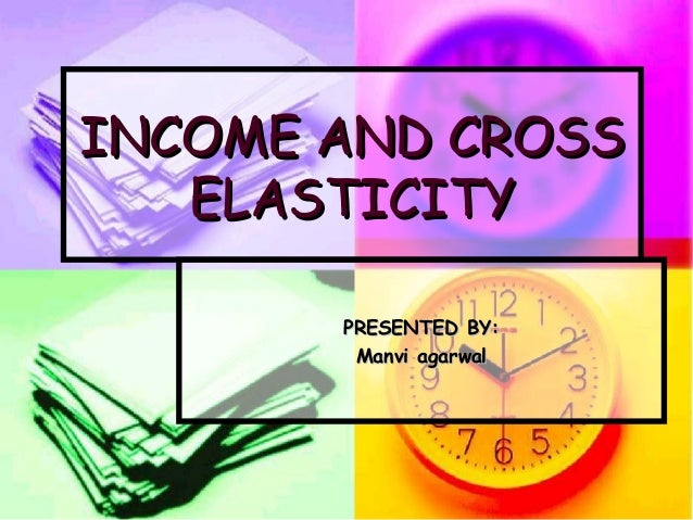 INCOME AND CROSS ELASTICITY PRESENTED BY: Manvi agarwal
