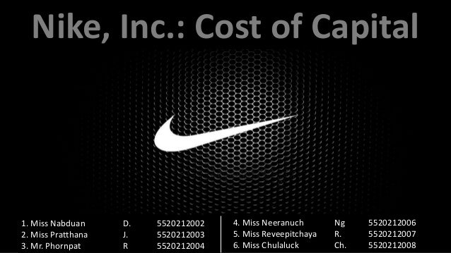 nike case study wacc solution