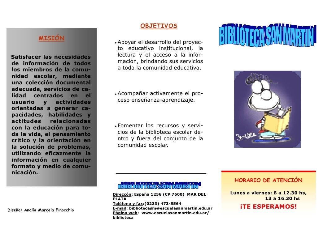 folleto biblioteca escolar