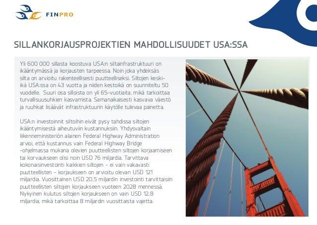 Finpro markkinamahdollisuus sillat usa