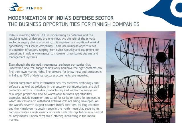 Finpro modernization of indias defense sector