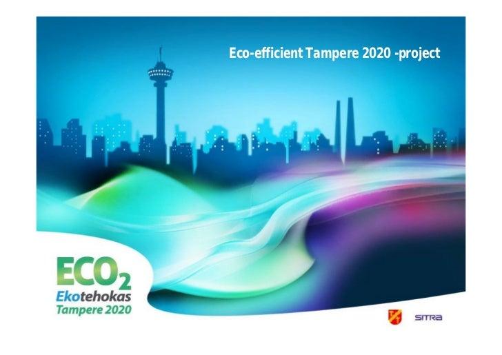 Tampere: Eco-efficient Tampere 2020