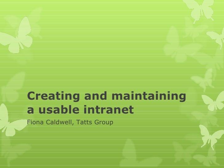 Fiona caldwell   presentation