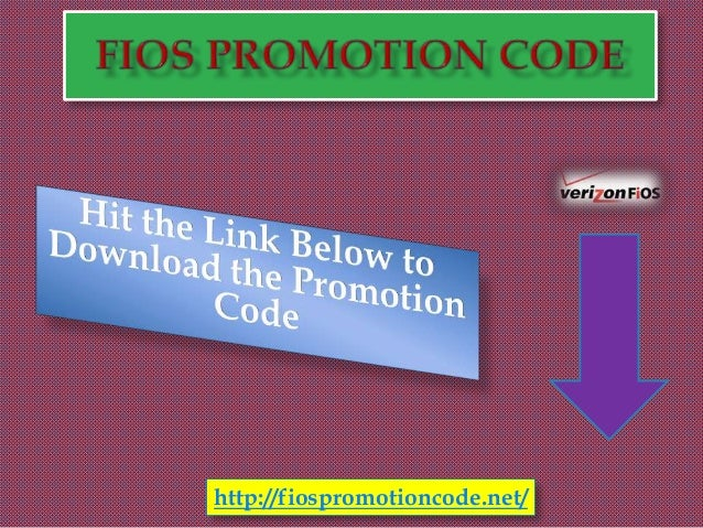 Fios promotion code