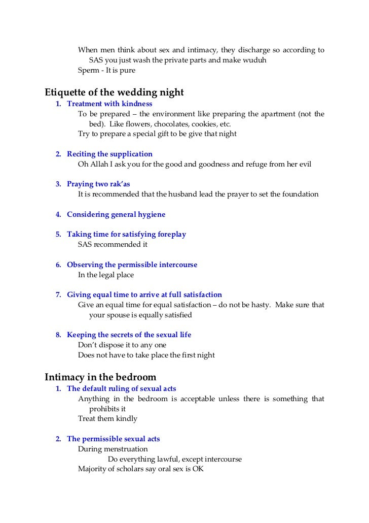 What To Do On Your First Wedding Night In Islam
