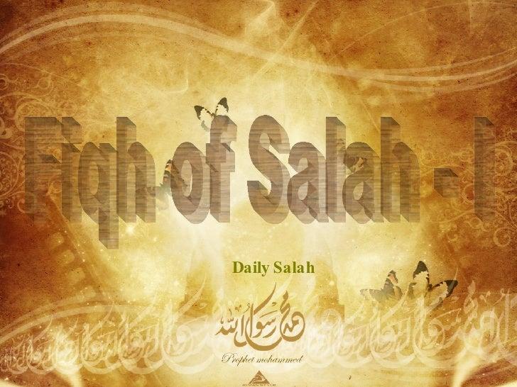 Fiqh of Salah - I Daily Salah