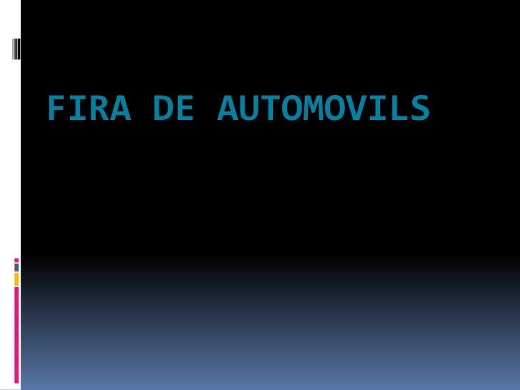 FIRA DE AUTOMOVILS