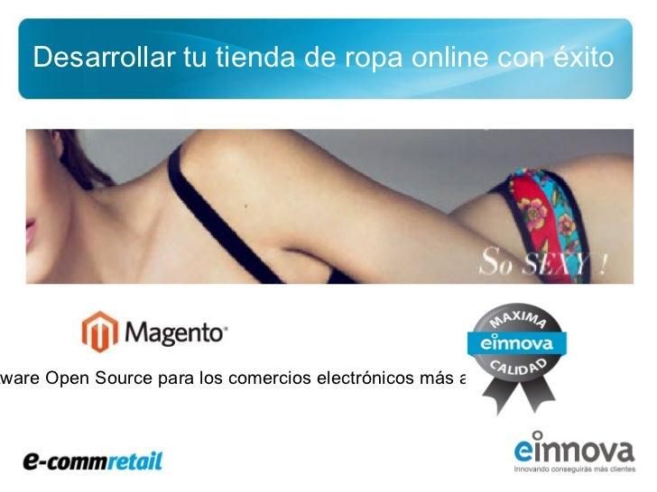 Tienda de ropa online con Magento commerce