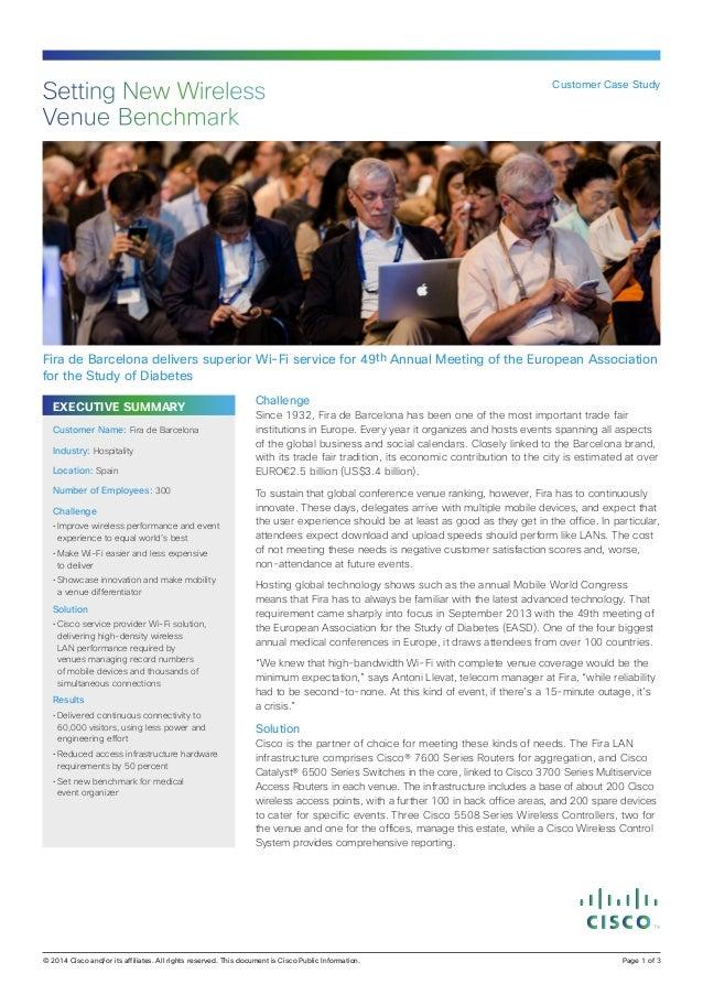 Fira de Barcelona: Setting New Wireless Venue Benchmark
