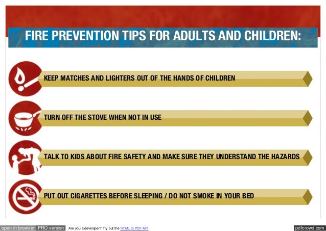 Fire prevention tips pdf