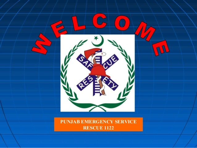 PUNJAB EMERGENCY SERVICE RESCUE 1122