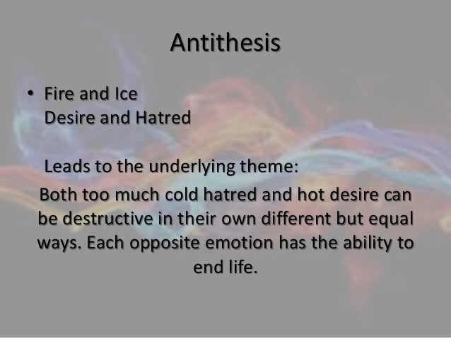 antithesis used in a poem