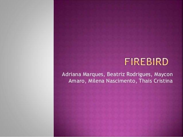 Adriana Marques, Beatriz Rodrigues, Maycon Amaro, Milena Nascimento, Thais Cristina