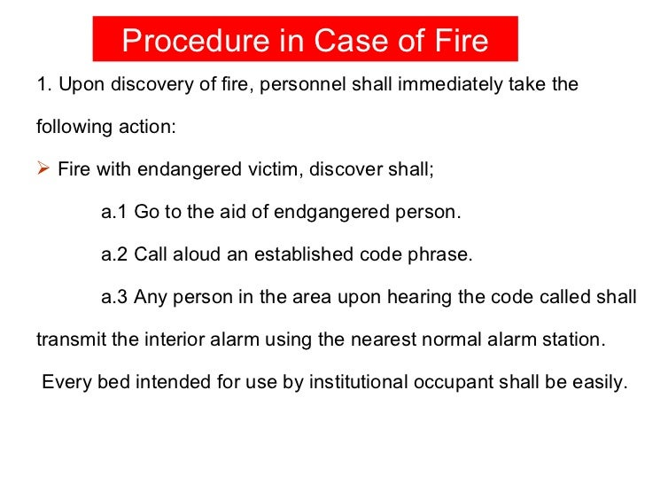 Essay hospital fire safety