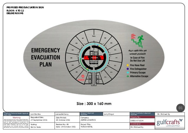 PROPOSED FIRE EVACUATION SIGN     FLOOR - 4 TO 12     DELUXE ROOMS                                                        ...
