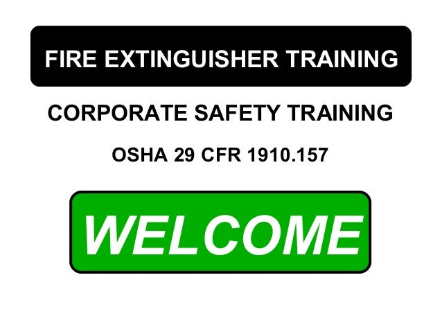 Fire Extinguisher Training by USMRA