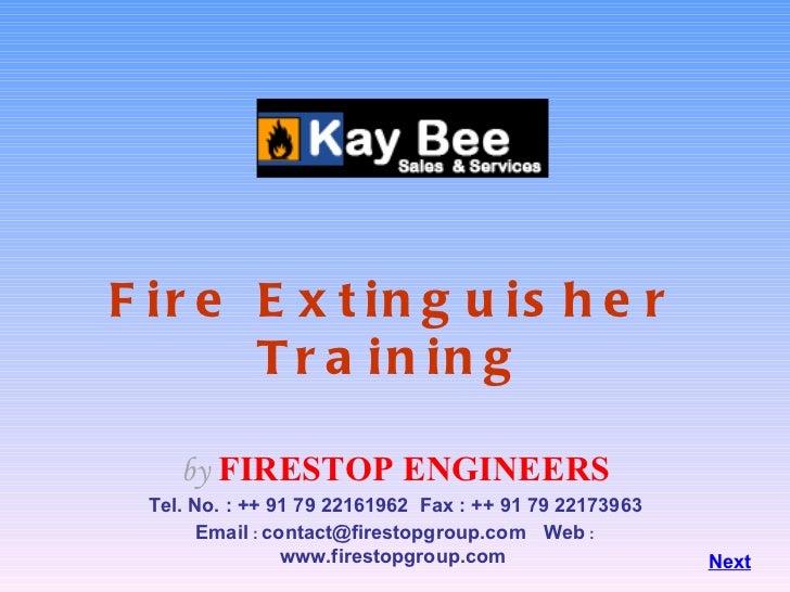 kay bee Fire extinguisher training3