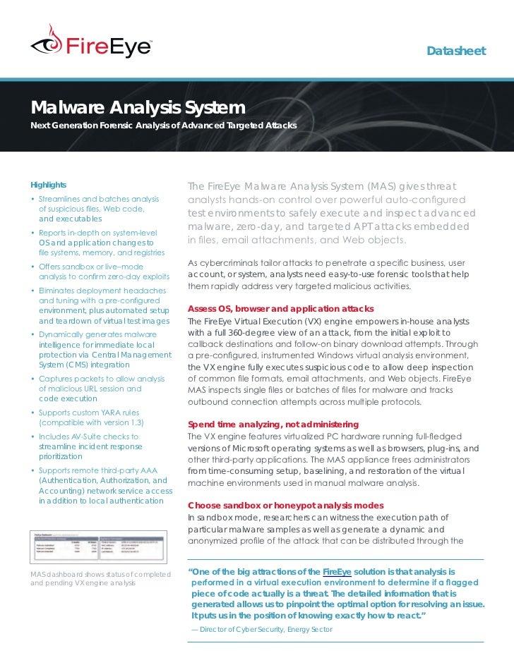 FireEye Malware Analysis