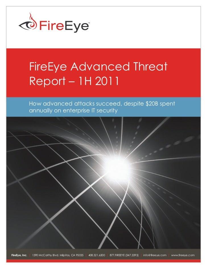 FireEye Advanced Threat Report
