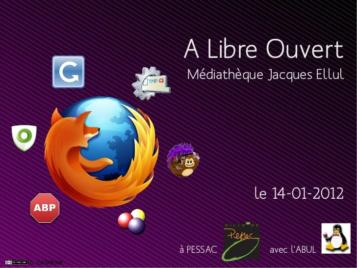 A Libre Ouvert Médiathèque Jacques Ellul           le 14-01-2012à PESSAC      avec lABUL