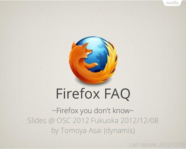 Firefox FAQ