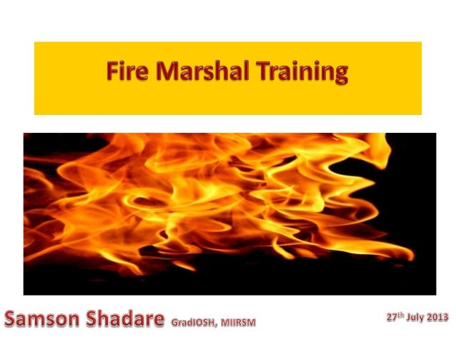 Refuge Safety Consulting Fire Marshal Training