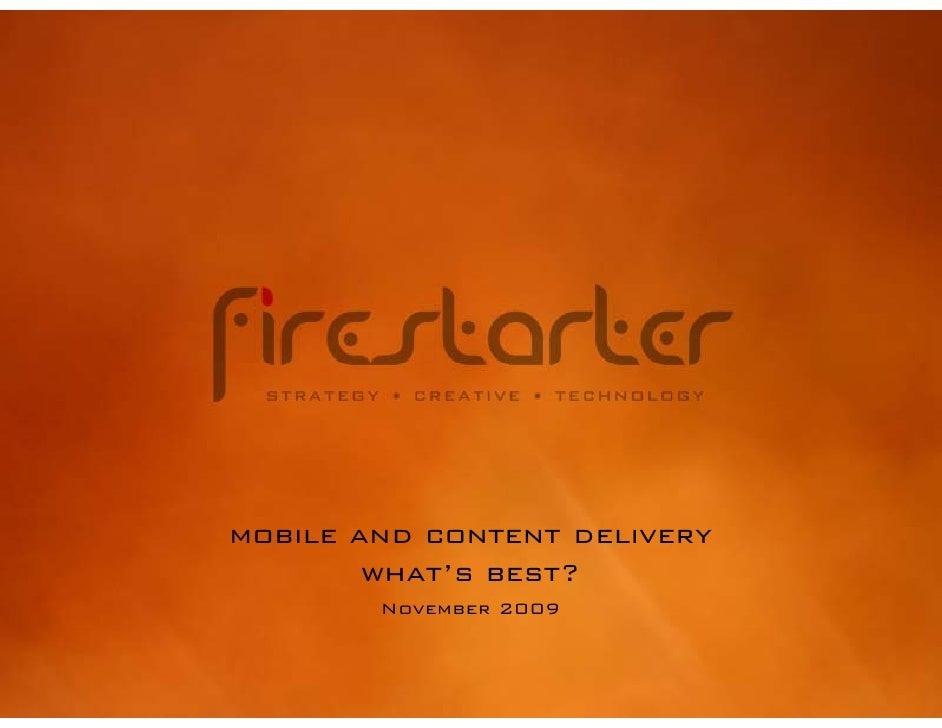 Firestarter Mobile Application Preso