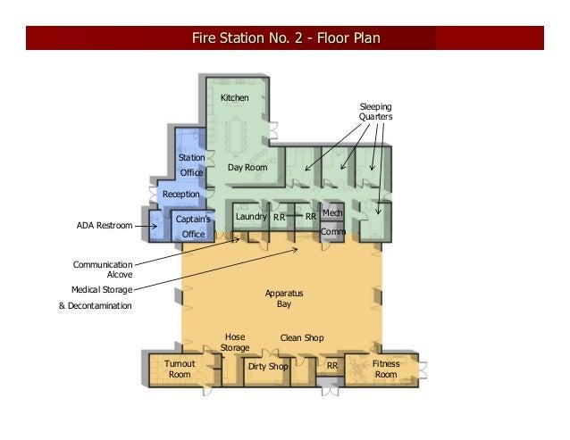Fire station no 2 design presentation december 2007 for Fire station floor plans design