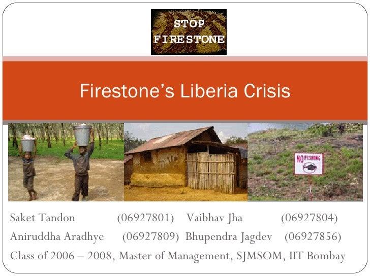 Firestone's Liberia Crisis