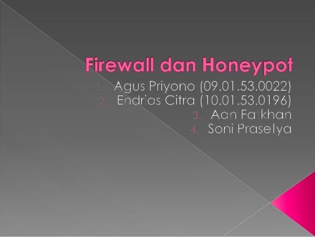 Firewall dan honeypot