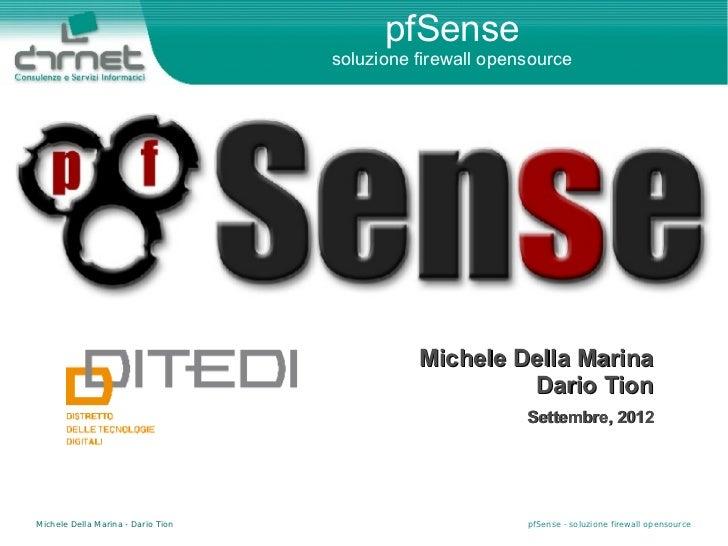 pfSense                                    soluzione firewall opensource                                              Mich...