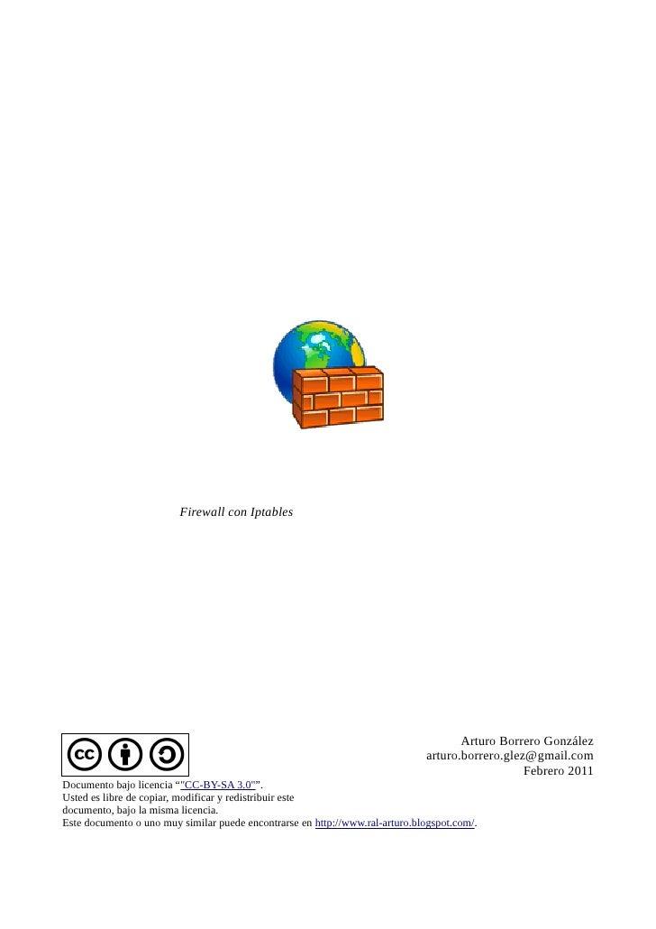 Firewall con Iptables                                                                                     Arturo Borrero G...