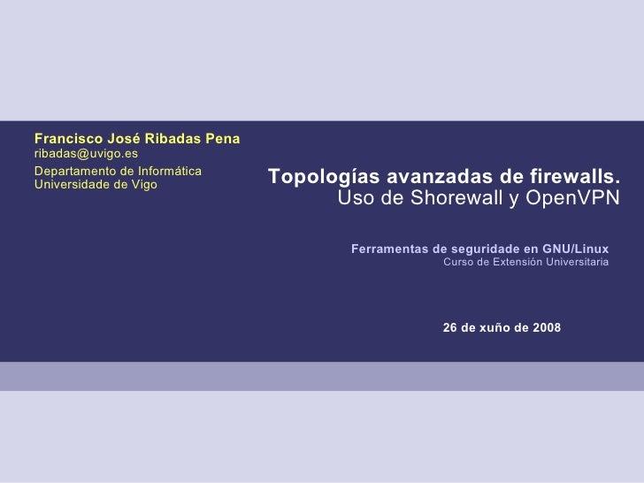 Topologías avanzadas de firewalls