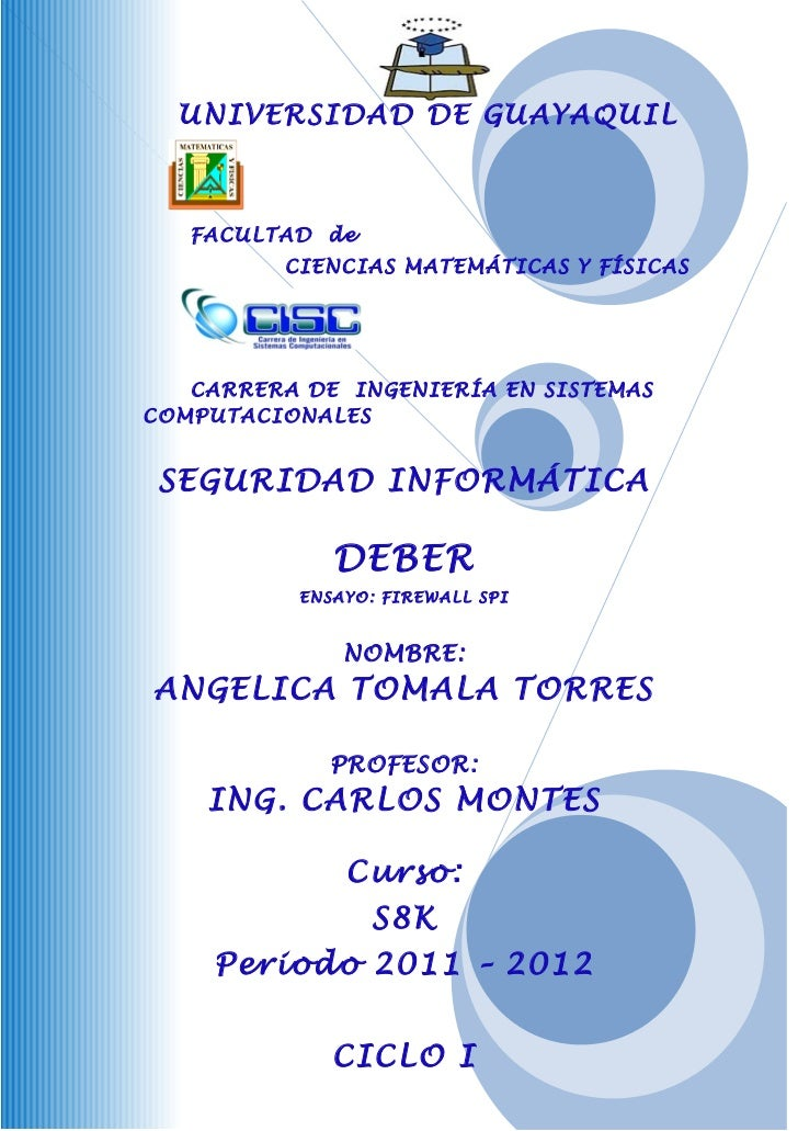 UNIVERSIDAD DE GUAYAQUIL   FACULTAD de          CIENCIAS MATEMÁTICAS Y FÍSICAS   CARRERA DE INGENIERÍA EN SISTEMASCOMPUTAC...