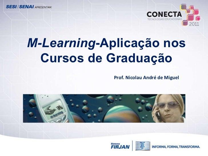 M-Learning -Aplicação nos Cursos de Graduação Prof. Nicolau André de Miguel