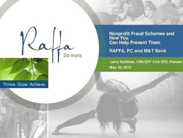 2012-05-30 Nonprofit Fraud Schemes