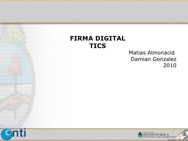 Firma digital 2010 tics