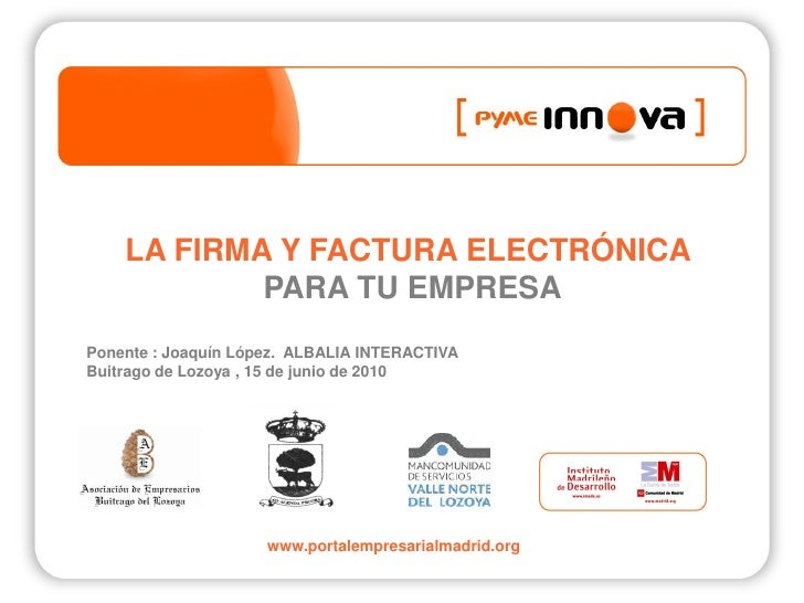 Pyme Innova. Firma y factura electronica.