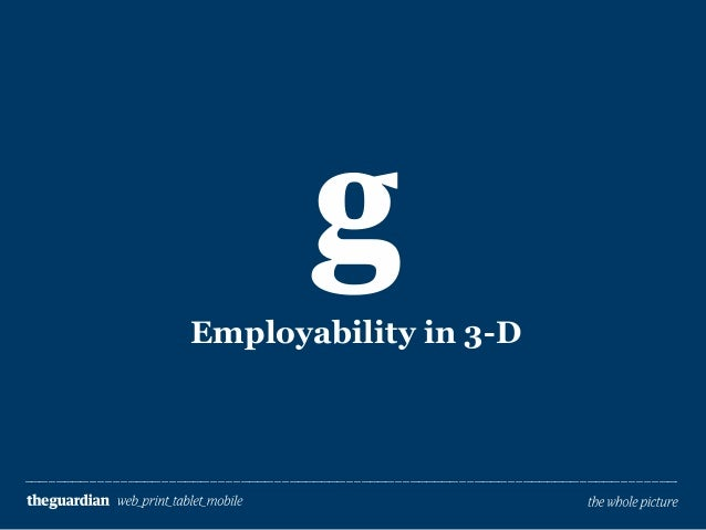 Employability in 3-D