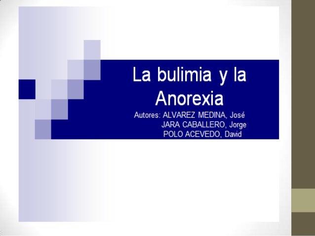 Firme diapositivas bulimia y anorexia